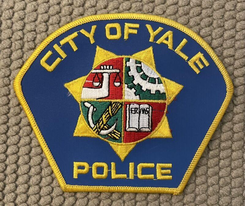 """City Of Yale Police Patch Reflective Prototype 4 1/4"""""""
