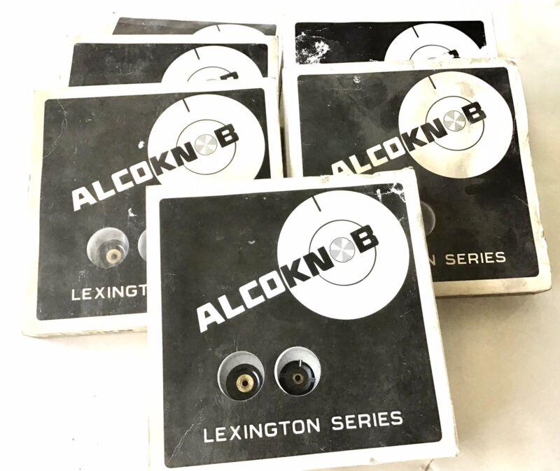 NOS Lot Of 6 1/2 Boxes Alco Alcoswitch PKFC-57BPM black Knob (164 Total Knobs)