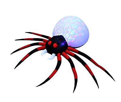 8 Foot Wide Halloween Inflatable Special LED Light Effect Spider Yard Decoration](Inflatable Halloween Spider)