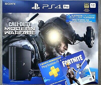 PS4 PlayStation 4 Pro Call of Duty Modern Warfare 1TB Console +3Month+Fornite500