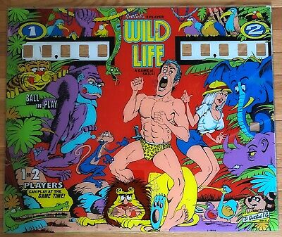 Gottlieb Wild Life Pinball Backglass