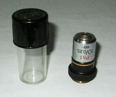 Zeiss Ph1 Neofluar 10025 160- 10x Phase Contrast Microscope Objective