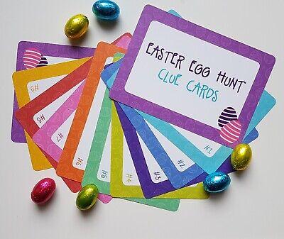 Easter Egg Hunt Clue Cards