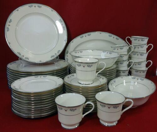 GORHAM china SERENA pattern 63-Piece SET SERVICE for Twelve (12) + 3 Serving