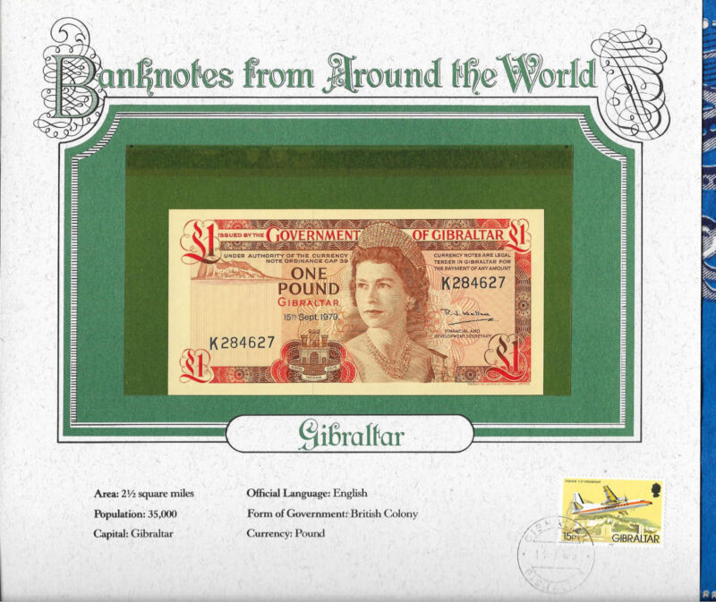 World Banknotes Gibraltar 1 pound 1979 P 20b UNC Prefix K
