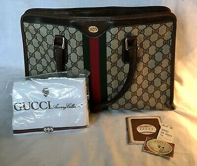 Gucci Vintage Brown Duffle Bag