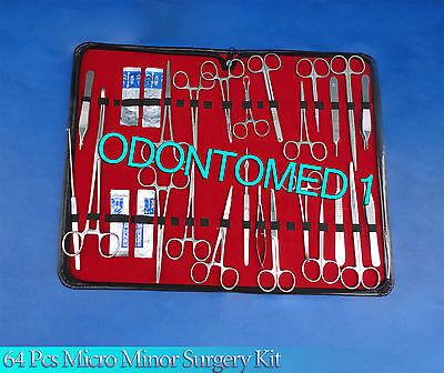 64 Pcs Minor Micro Surgery Instrument Surgical Instrument Kit