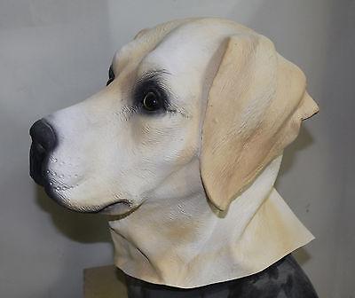 Golden Labrador Maske Hund Kostüm Retriever Hunde Tier Latex Ganzer (Labrador Retriever Kostüm)