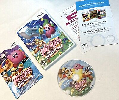 Kirby's Return to Dream Land  (Nintendo Wii, 2011) Complete Tested Works