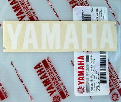 ORIGINAL Yamaha- 10cm  -Schriftzug  Aufkleber-WEISS-Emblem-Decal-Sticker-GENUINE