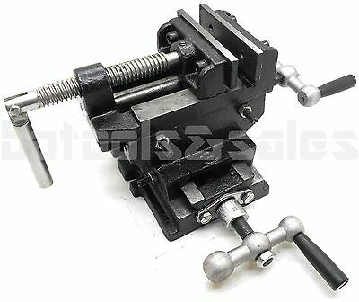 3 Cross Slide Vise Drill Press Heavy Duty Metal Milling 2 Way X-y Clamp Machine