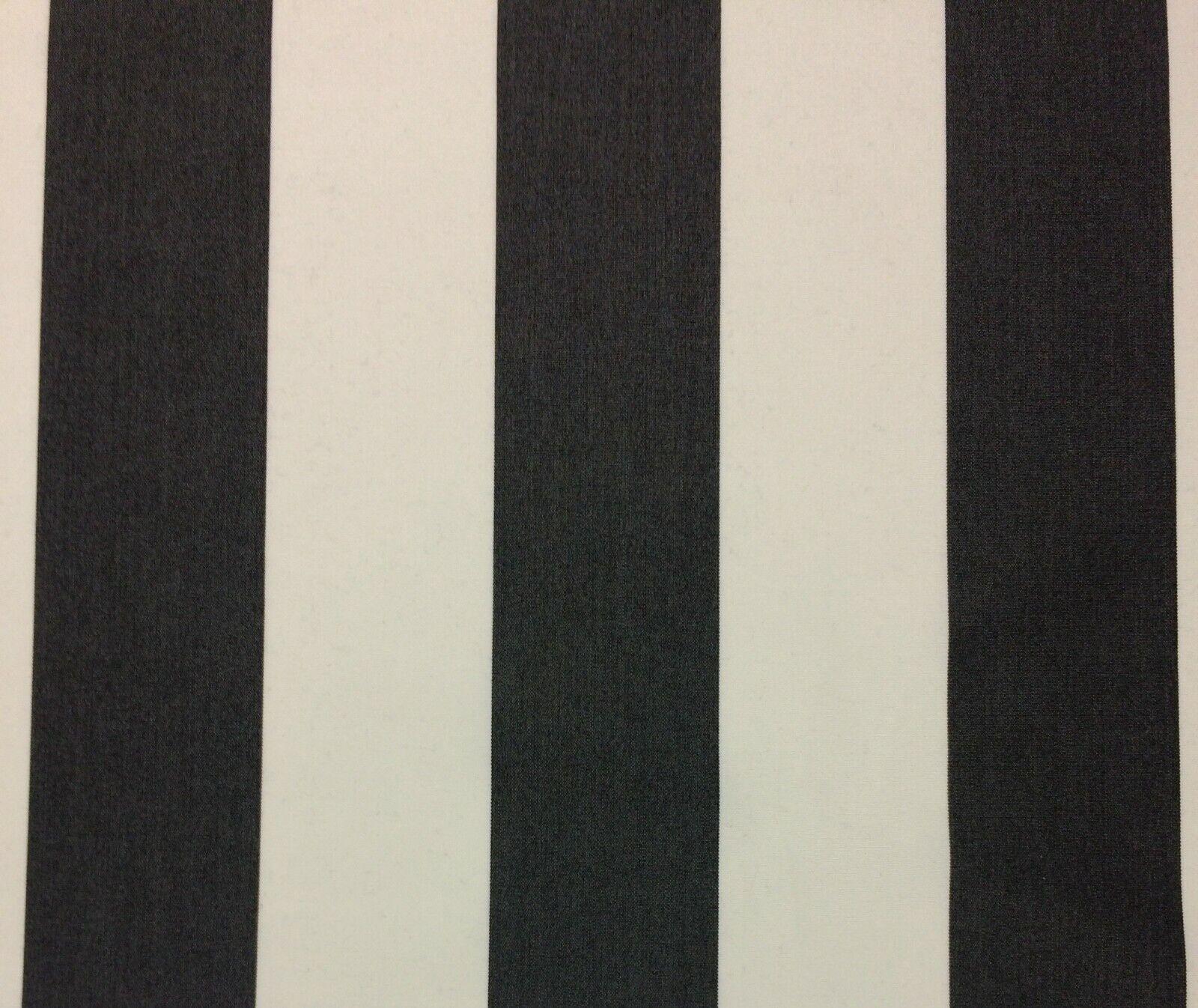 SUNBRELLA EXPEDITION CLASSIC BLACK WHITE STRIPE FURNITURE FA
