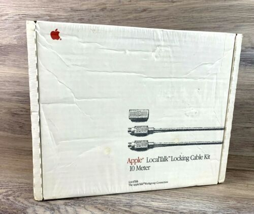 New Sealed Apple Computer Local Talk Locking Cable Kit 10 Meter M2066