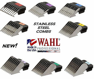 - WAHL STAINLESS STEEL Attachment GUIDE Blade COMB*Fit Many Andis,Oster Clippers