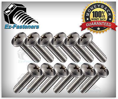 Machine Screws Pan Head Phillips Drive Stainless Steel 6 32 X 3 4  Qty 100