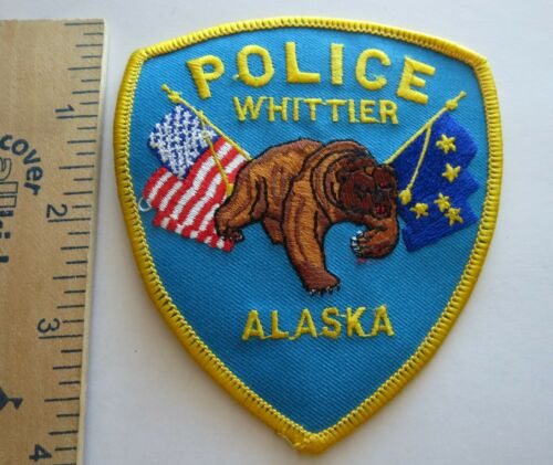WHITTIER ALASKA POLICE PATCH Vintage Original