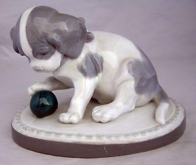 Vintage Metzler & Ortloff German Porcelain Puppy Dog Figurine No.4259