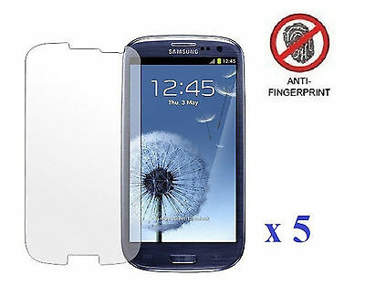 5 x Anti Glare Matte Screen Protector Cover for Samsung Galaxy S3 III i9300 T999
