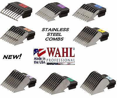 - WAHL STAINLESS STEEL Attachment GUIDE CLIP ON COMB*Fit Many Andis,Oster Clipper