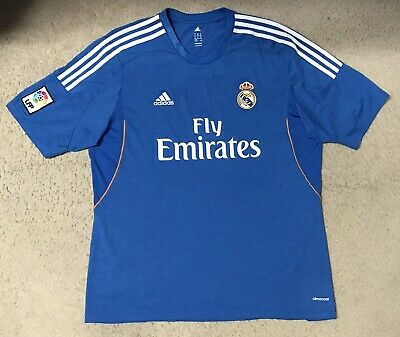 Adidas Climacool Real Madrid 2013/14 Away Soccer Football Jersey LFP Patch XL image