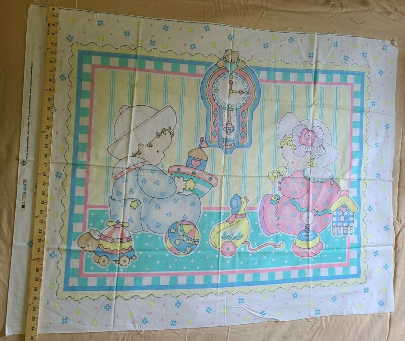 Daisy Kingdom 1992 Baby Quilt Panel 34X45 Toy Time Nursery Collection