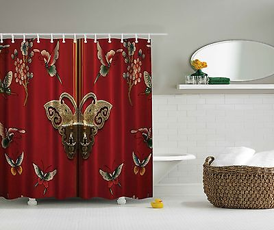 bright butterfly door on chinese style floral