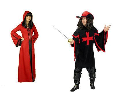 Damen Herren Paar Partner mittelalter Kostüm MUSKETIER BURGFRÄULEIN - Herren Paar Kostüm