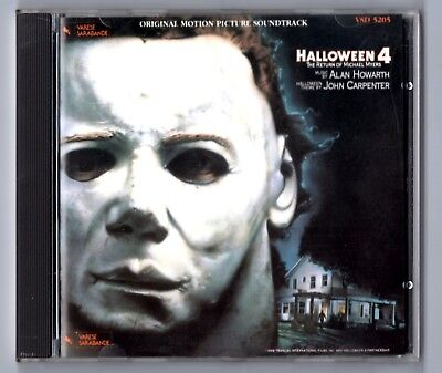OST Soundtrack CD HALLOWEEN 4 © 1988 Varese Sarabande West Germany Alan Howarth - Halloween Band Germany