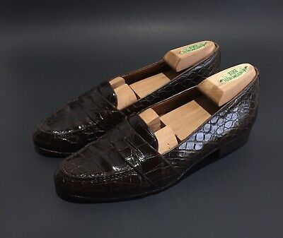 Polo Ralph Lauren Made in Italy Brown Alligator Crocodile Loafers