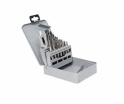 GSR Gewindeschneider Set 15 tlg. M3-M12 Einschnitt Gewindebohrer für allg. Stahl