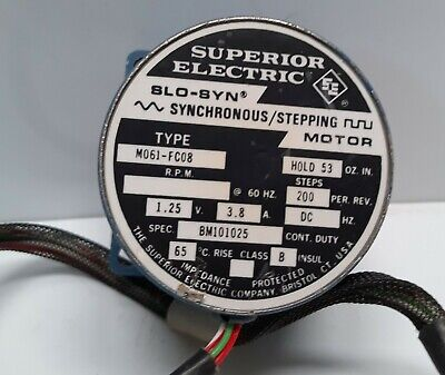 Superior Electric Slo-syn Synchronous Stepping Motor M061-fc08 200 Steps Per.rev