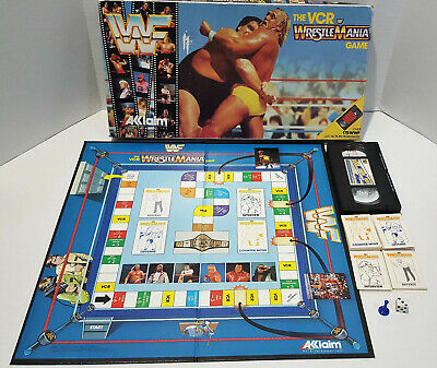 WWF Wrestlemania VCR Board Game / Great Condition / WWE / Vintage 80s for sale  Shipping to India