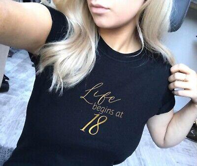 Life Begins At 18 T-shirt, 18th Birthday T-shirt, 18th Birthday T-shirt