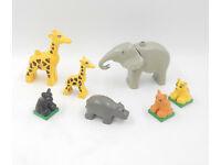 LEGO DUPLO ZOO 3 X ZOOTIERE TIERE GIRAFFE Elefant Löwe Babys neues Modell