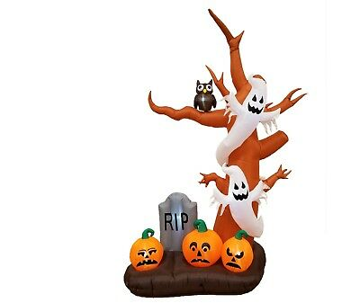 Halloween Air Blown Inflatable Yard Outdoor Party Decoration Tree Ghost Pumpkins - Halloween Outdoor Tree Decorations