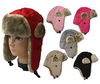 WHOLESALE LOT 12 PCS TODDLER FAUX FUR TROOPER WINTER AVIATOR Kid Cute HAT - Kids Aviator Hat