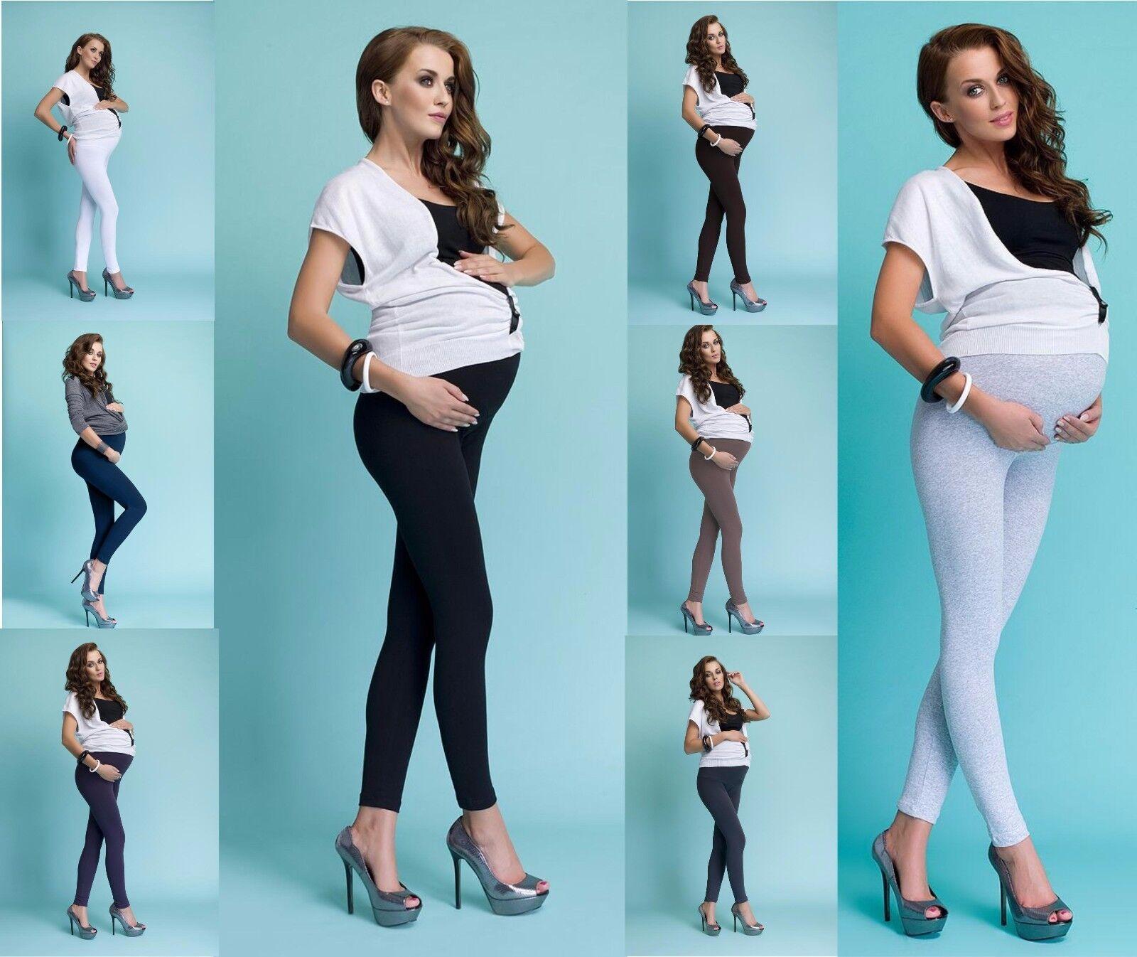 2-er Sparset Umstandshose Leggings für Schwangere lang aus Baumwolle S - XXL