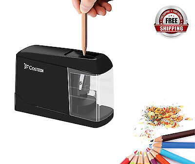 Electric Colored Pencil Sharpener Usb Battery Tabletop Mini Portable Fast Ship