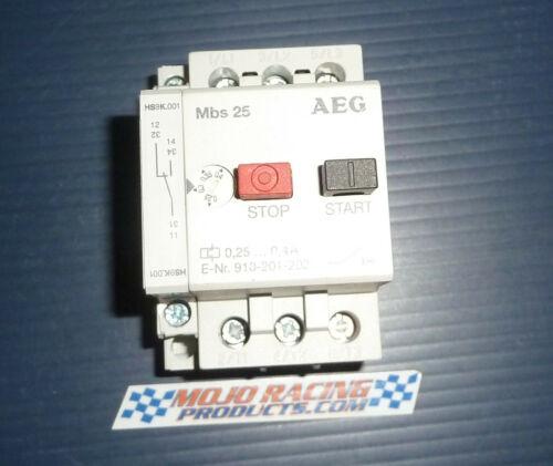 AEG MBS25 Manual Motor Starter 0.4A  E-Nr:910-201-202 Good Used $45ea