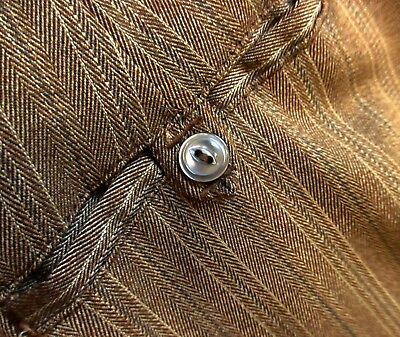 28x31 True Vtg 70s GOLDEN BROWN STRIPED MOD RAYON KNIT Straight PANTS Slacks