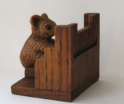 Church Mouse Musician Playing Organ Ornament Hand Made Carving Cathedral Gift