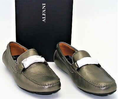 Alfani Marcus (M118) Slip on Loafers Tumbled Drivers Shoes Pewter Mens SZ 9.5