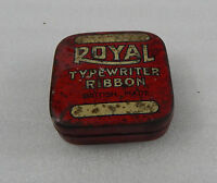 Vintage Royal Typewriter Ribbon Tin 6cm Square Royal Typewriters London.. - tins - ebay.co.uk