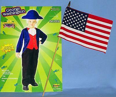 George Washington Costume kids-8-10;Historical-Colonial-President-American Flag](Kids George Washington Costume)