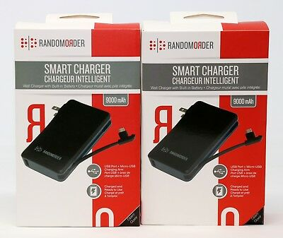 2-Crowd (TWO) Random Order Portable Battery Pack 9000mAh Micro-USB Power Bank