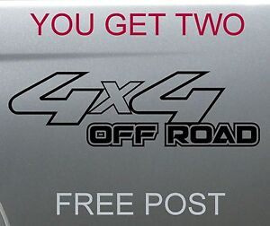 4x4 4wd DECALS pair 200mm FREE POST - 14 colors