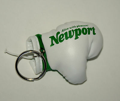 Vtg 1980s Newport Cigarettes Boxing Glove Tobacco Advertising Key Chain New NOS