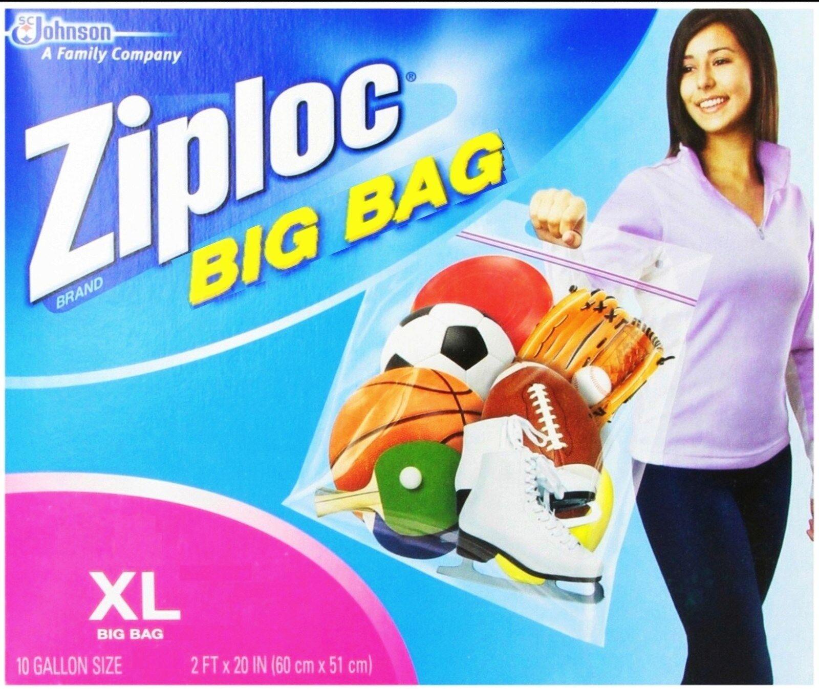 "1 Big Bag Ziploc Xl 10 Gallon Plastic 24""x20 Extra Large Storage Clothes Ziplock"