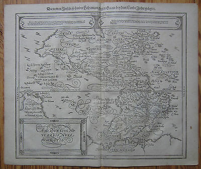 MÜNSTER/MUNSTER: Cosmographia Large Map of America - 1592