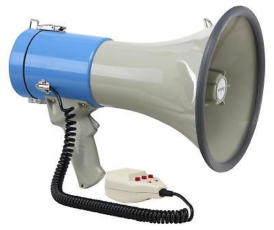 Fan Megaphon Tröte Megafon Sprachrohr Lautsprecher Sirene USB SD MP3 80W 1000M